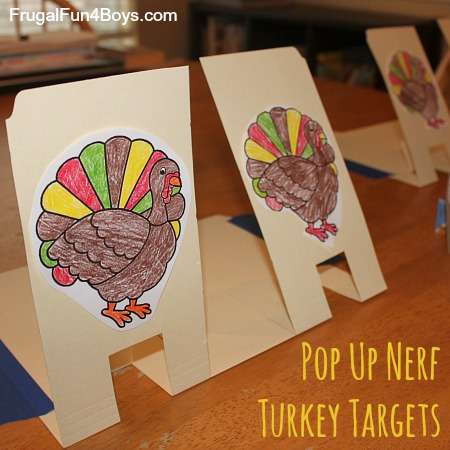 Pop Up Nerf Turkey Targets Thanksgiving Game