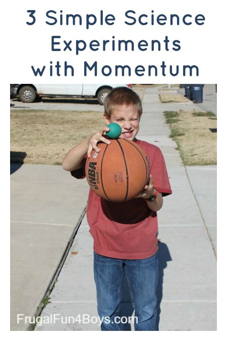 Three Simple Science Experiments with Momentum