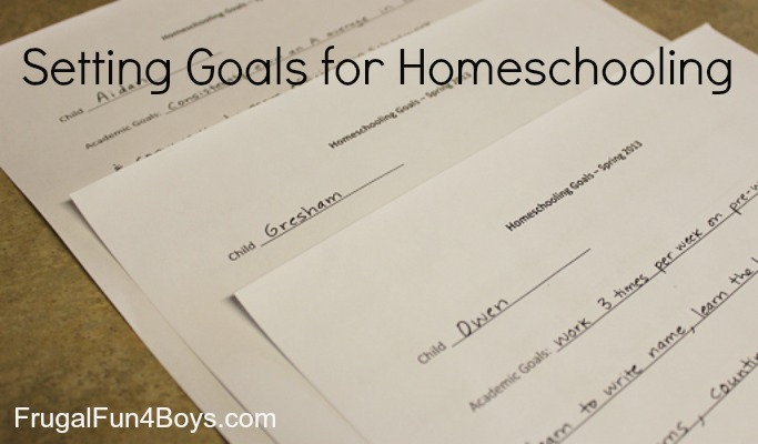 Setting Goals for Homeschooling