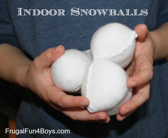 Indoor snowball toss game