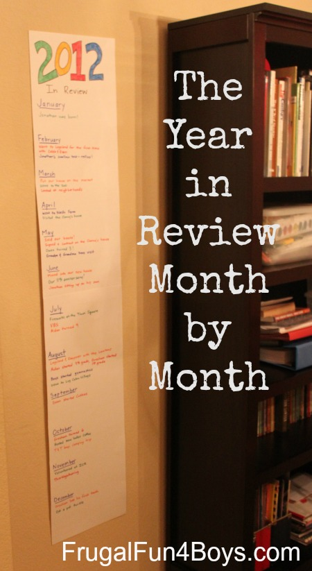 New Year's for Kids: Remember the year month by month