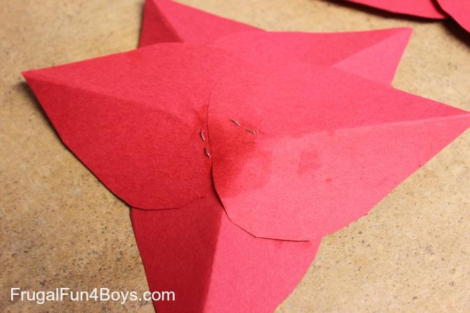 Construction Paper Poinsettias