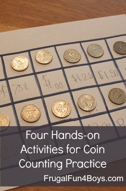 Four Hands-on Activities for Coin Counting Practice