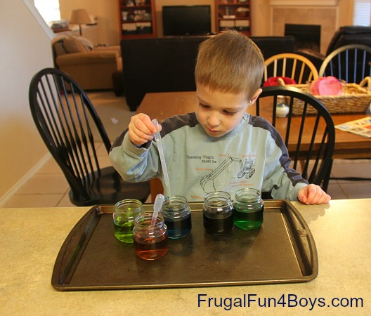 Color Mixing and Water Transfer
