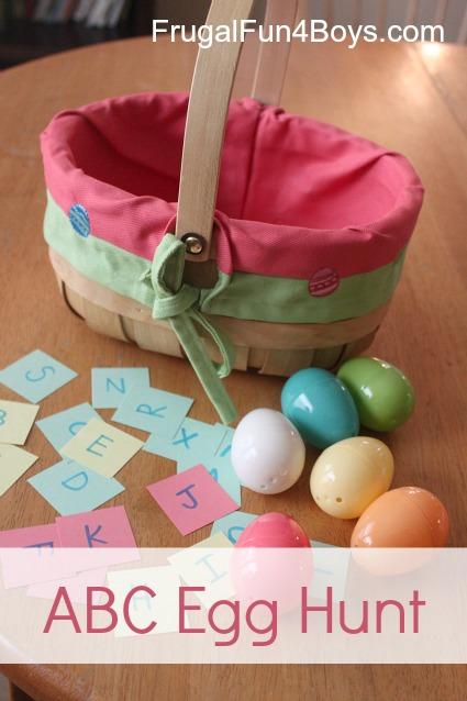 Alphabet Egg Hunt, Plus more ideas for learning egg hunts