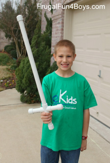 Make your own pvc pipe sword