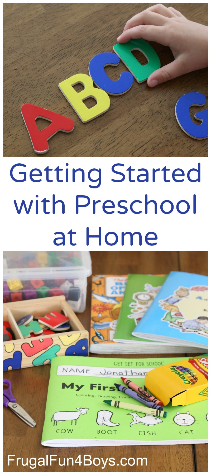 Getting Started with Preschool at Home - What to Teach and Materials to Use