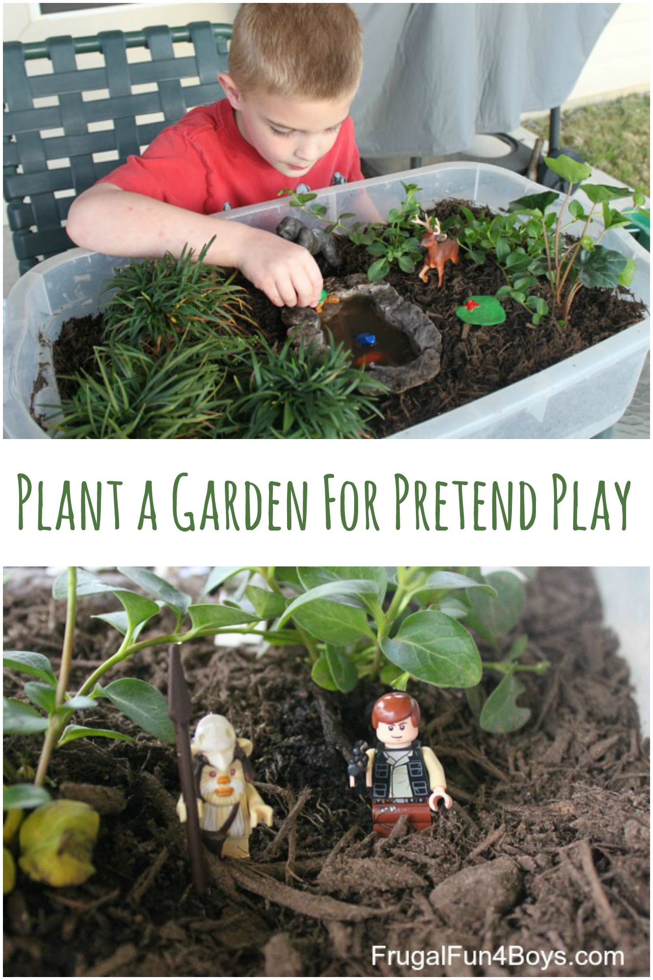 Plant a Garden for Pretend Play! Great for toy animals, LEGO guys, and more!