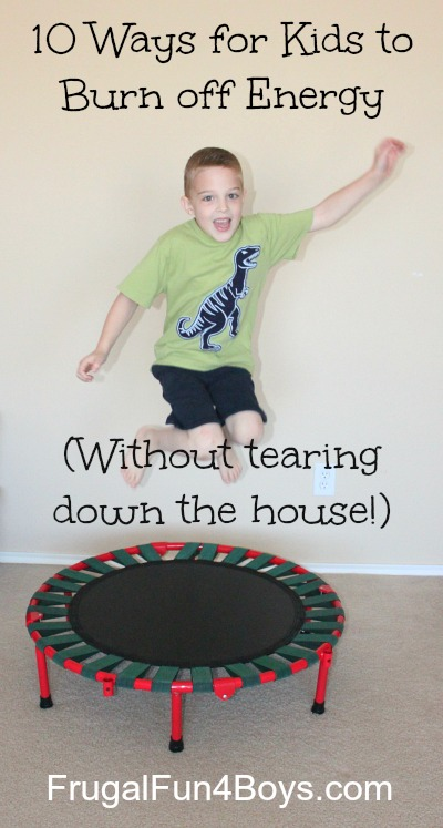 10 Ways for Kids to Burn off Energy (Without tearing down the house!)