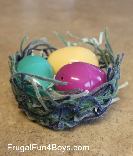 Yarn Nests for Easter