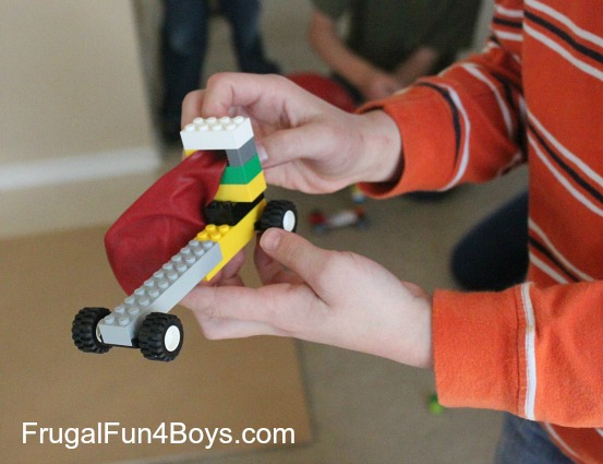 Lego Fun Friday: Balloon Powered Car Challenge