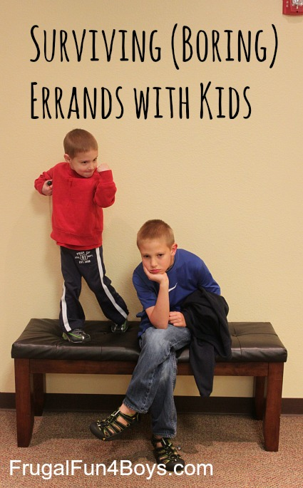 Surviving boring errands with kids. Tips from a mom of 4 boys!