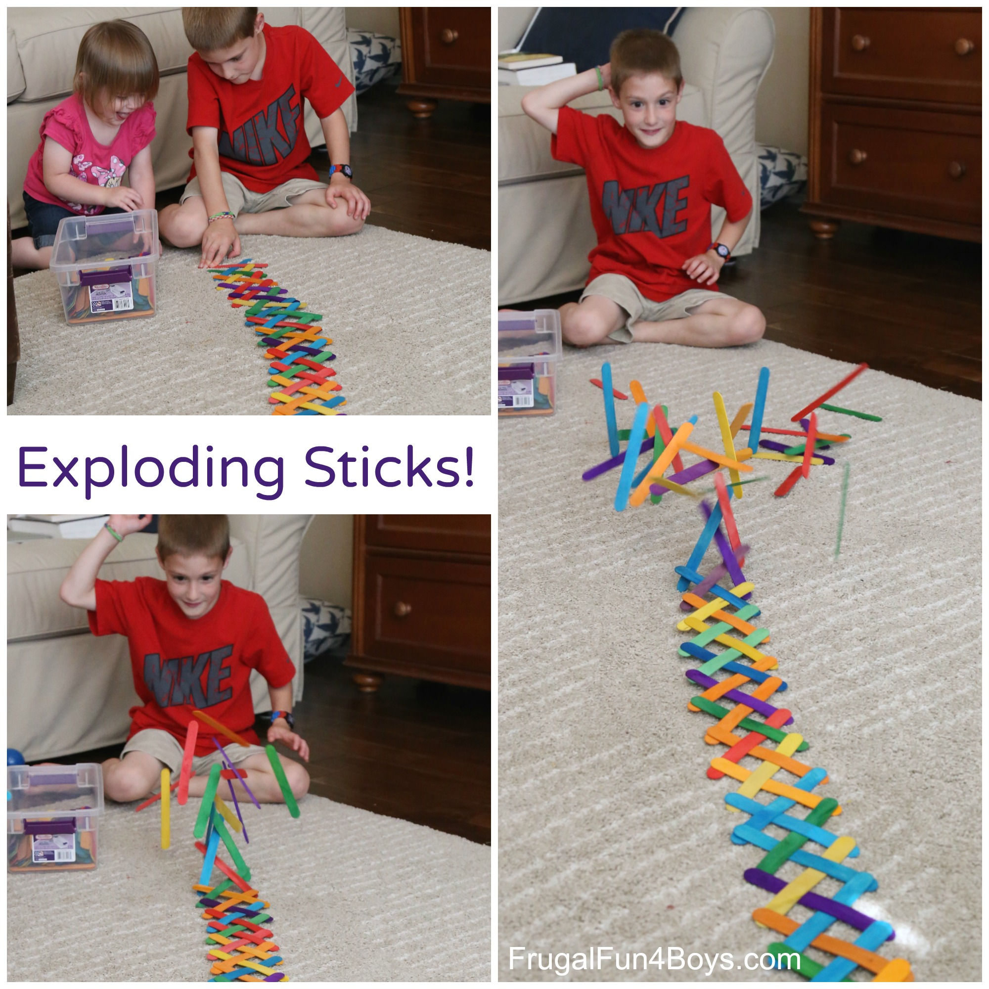 Build an Exploding Chain Reaction with Craft Sticks