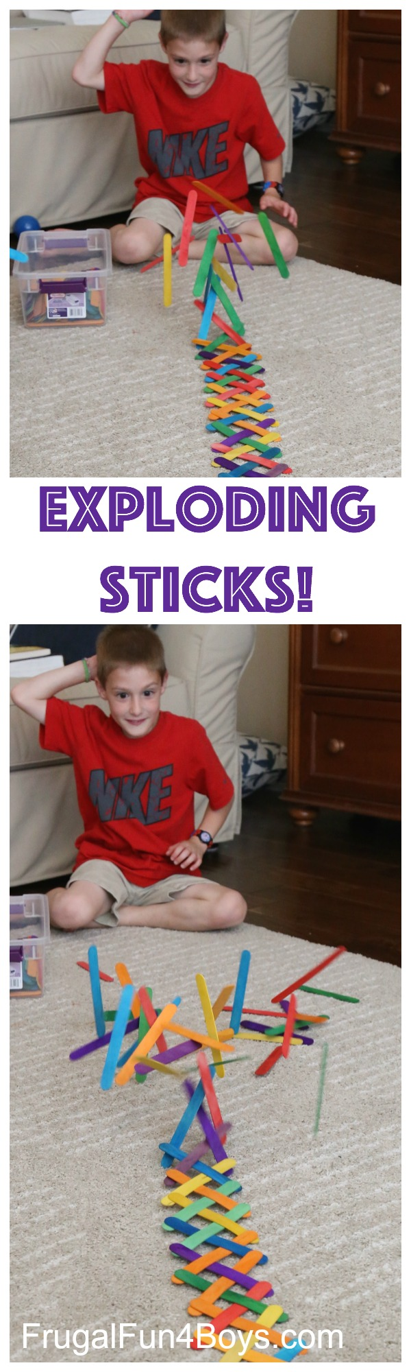 Build an Exploding Chain Reactions with Popsicle Sticks
