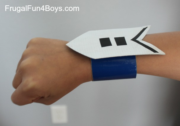 Duct Tape Arm Bands - fasten with velcro!