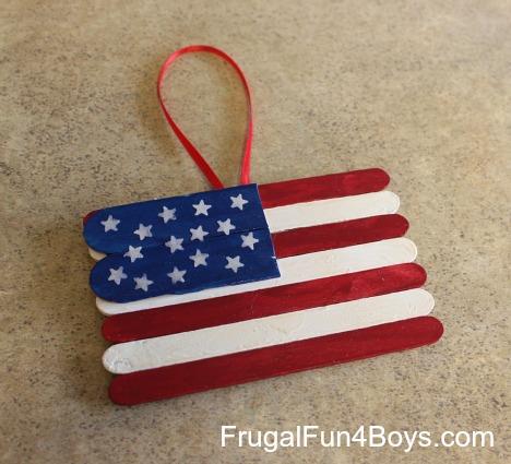Make a popsicle stick flag