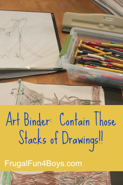 Make an art binder and contain those stacks of drawings!