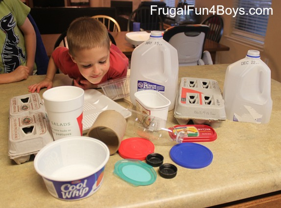 Screen-free play: Build boats from recycled materials