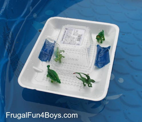 Screen-free play: Build boats out of recycled materials