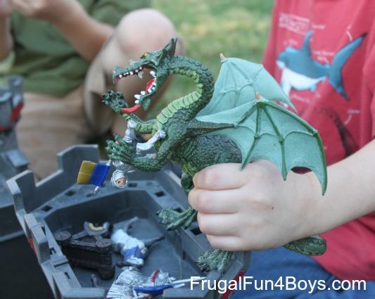 Fizzing dragons pretend play