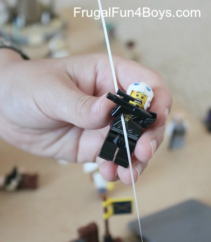 Make a Lego Zip Line!