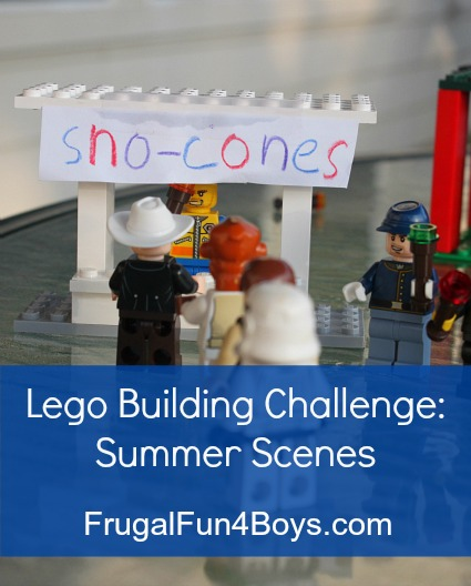 Lego Fun Friday: Summer Theme Building Challenge
