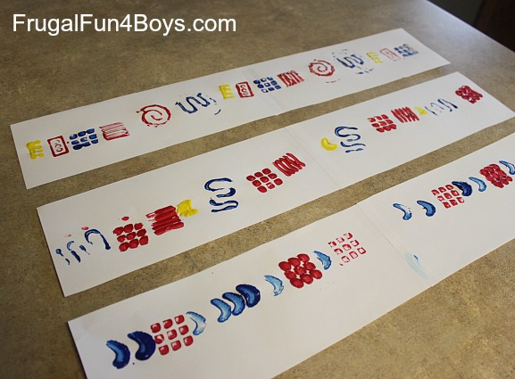 Creating Patterns with Paint Stamping