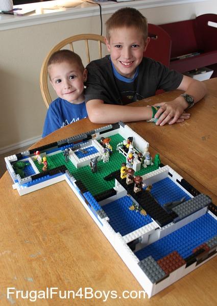 Lego building challenge for kids