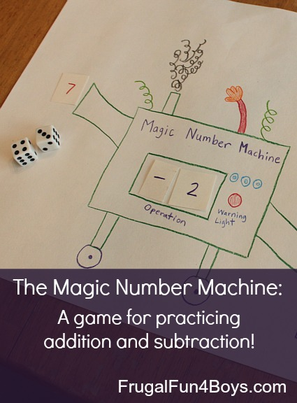 The Magic Number Machine:  A game for practicing addition and subtraction