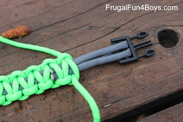 How To Make Parachute Cord Paracord Bracelets Frugal Fun