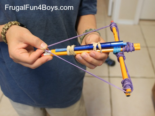 Make a pencil crossbow