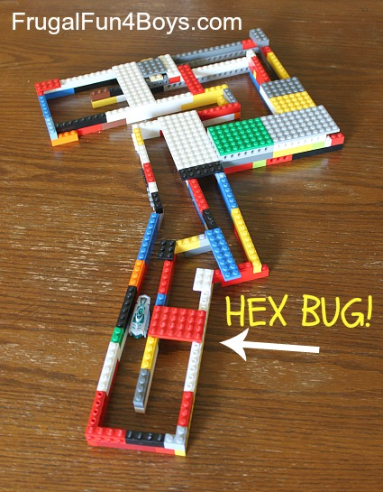 Build a hexbug track out of Legos