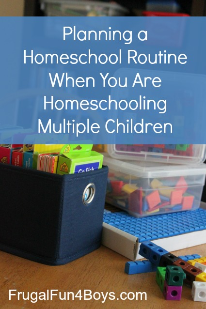 Planning a homeschool routine when you are homeschooling multiple children