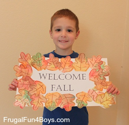 Coffee Filter Fall Leaf Sign