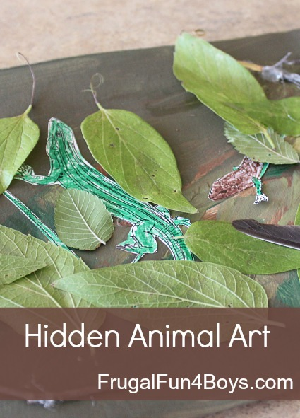 Learn about animal camouflage with hidden animals art