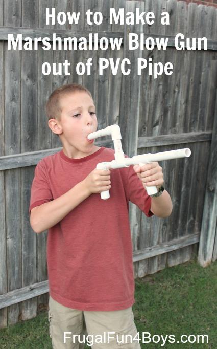 Make a marshmallow gun out of pvc pipe