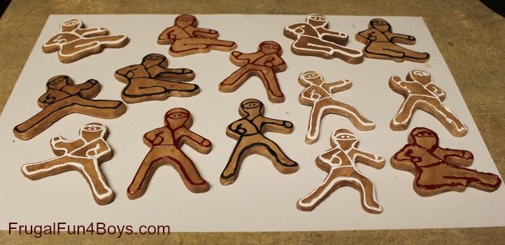 Ninjabread Men Homemade Christmas Ornaments