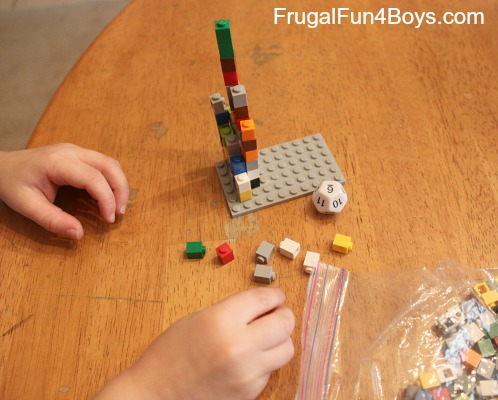 Math with Legos: Roll and Count for Preschoolers