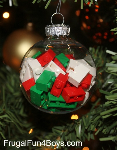 Build a Lego Christmas Ornament