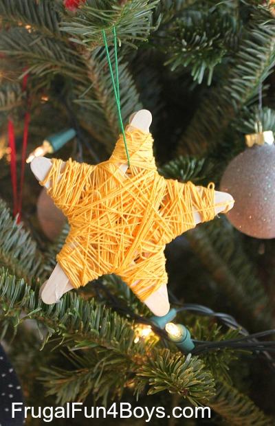 Popsicle Stick Star Ornaments