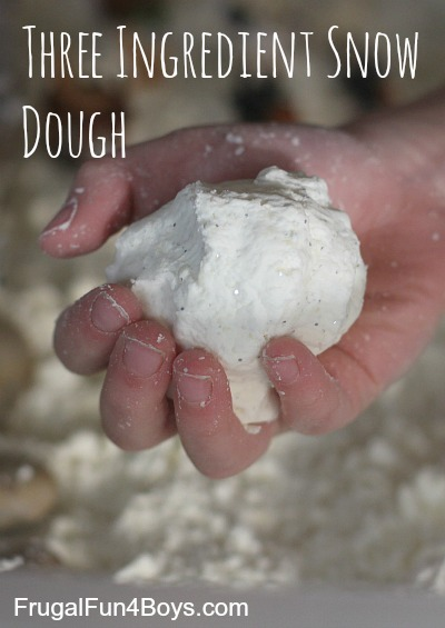 Three Ingredient Snow Dough