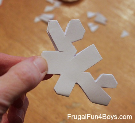 How to Cut and Fold Paper Snowflakes