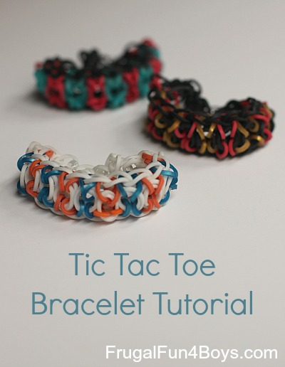 Tic Tac Toe Rainbow Loom Bracelet Tutorial