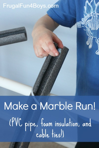 Build a Marble Run out of PVC Pipe and Foam Insulation