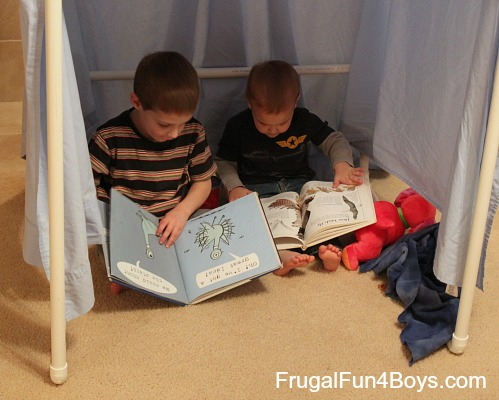 Build a PVC Pipe Play Tent or Fort