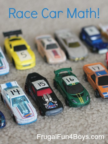 Race Car Math: Number Recognition and Counting Activity