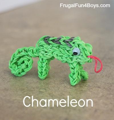 Chameleon Charm Rainbow Loom Tutorial