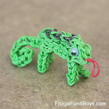 Rainbow Loom Chameleon Charm Tutorial