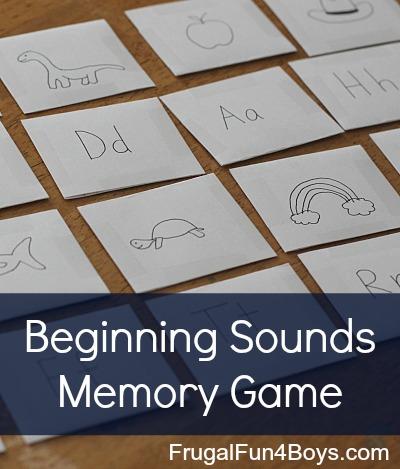Beginning Sounds Phonics Memory Game