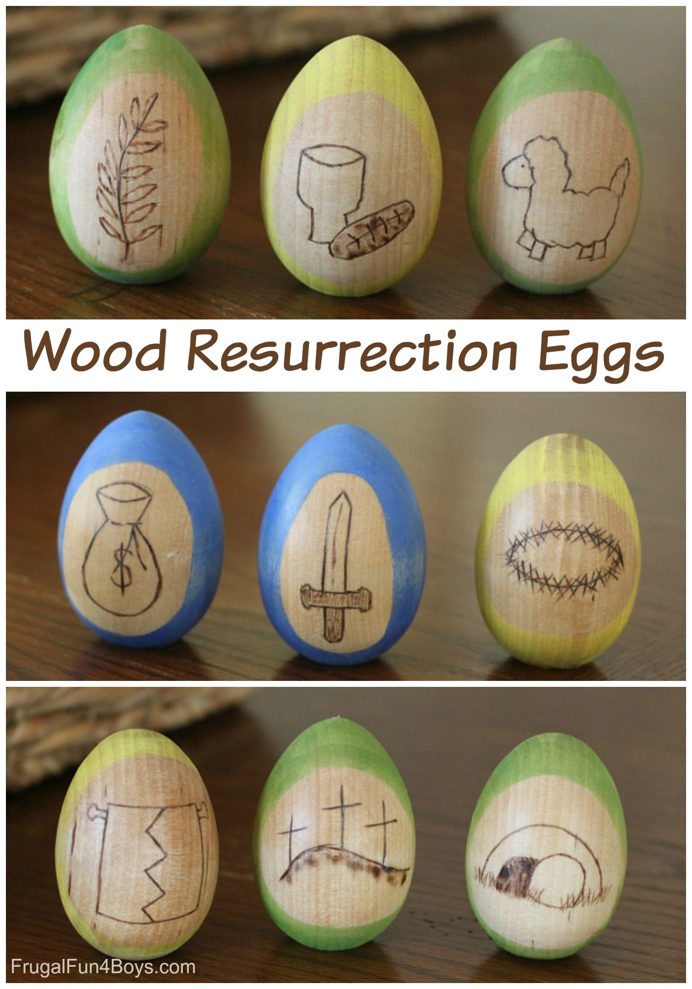Wood Resurrection Eggs - Tell the Easter Story